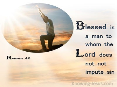 Romans 4:8 Blessed Is A Man To Whom The Lord Does Not Impute Sin (orange)
