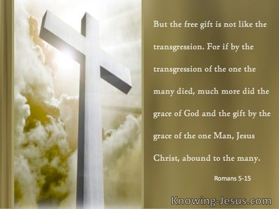 Romans 5:15 The Transgressions Of One And the Grace Of One (sage)