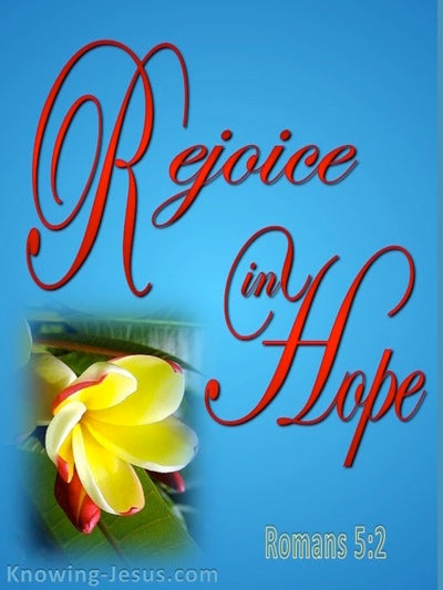 Romans 5:2 Rejoice In Hope (blue)