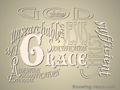 Romans 5:20 Much More Grace (beige)