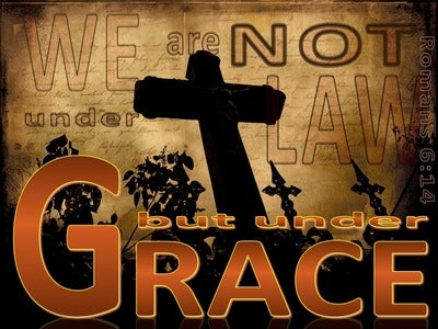 Romans 6:14 We Are Under Grace (brown)