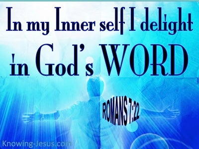 Romans 7:22 I Delight In The Law of God (blue)