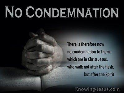 Romans 8:1 No Condemnation To Them Which Are In Christ Jesus (gray)