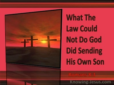 Romans 8:3 What The Law Could Not Do God Did (red)