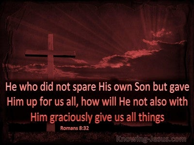 Romans 8:32 He Who Did Not Spare His Own Son (brown)