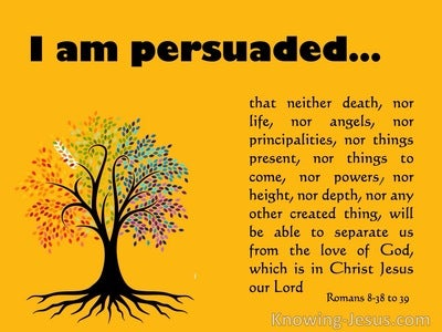 Romans 8:38 to 39 Nothing Can Separate Us From The Love Of God (yellow)
