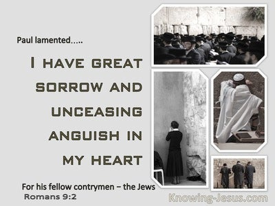 Romans 9:2 I Have Great Sorrow And Anguish In My Heart (gray)