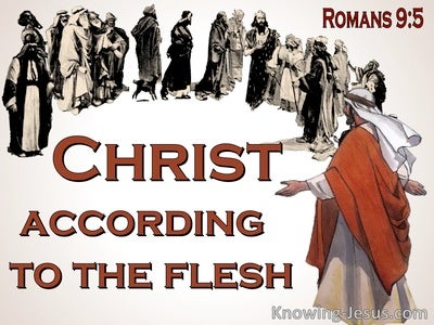 Romans 9:5 Christ, According To The Flesh (brown)