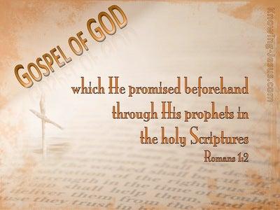 Romans 1:2 The Gospel Written Aforetime (orange)