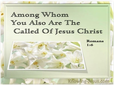 Romans 1:6 Among Whom You Also Are The Called Of Jesus Christ (white)