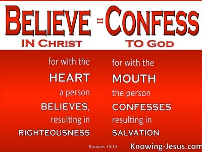 Romans 10:10 Righteousness and Salvation (red)