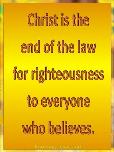 Romans 10:4 Christ Is The End Of The Law (orange)