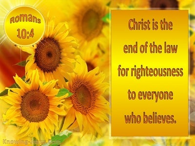 Romans 10:4 Christ Is The End Of The Law (yellow)