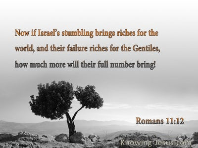 Romans 11:12 Israel's Stumbling Brings Riches For The World And The Gentiles (orange)