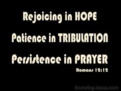 Romans 12:12 Rejoicing In Hope (black)
