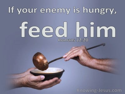 Romans 12:20 If Your Enemy Is Hungry, Feed Him (purple)