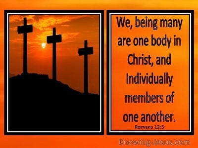 Romans 12:5 We Being Many Are One Body In Christ (windows)01:13