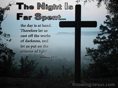 Romans 13:12 Put On The Armour Of Light (black)