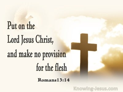 Romans 13:14 Put On The Lord Jesus Christ, And Make No Provision For The Flesh (cream)