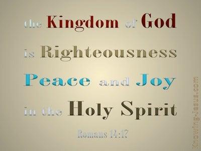 Romans 14:17 The Kingdom Of God (gold)
