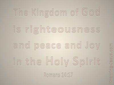 Romans 14:17 The Kingdom Of God (beige)