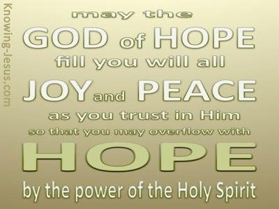 Romans 15:13 God Of Hope (green)