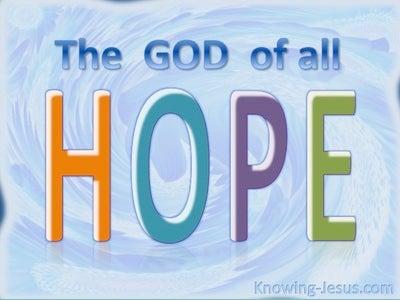 Romans 15:13 God Of All Hope (blue)