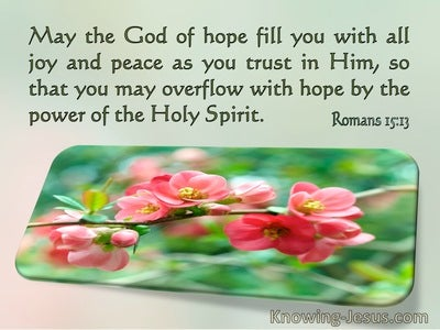 Romans 15:13 May The God Of Hope Fill You With All Joy And Peace In Believing (windows)06:28
