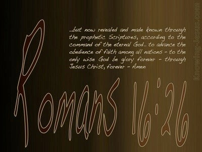 Romans 16:26 Revealed And Made Known (brown)