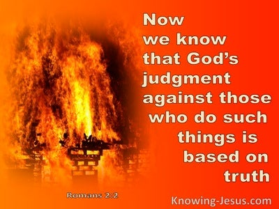 Romans 2:2 The Judgment Of God (orange)