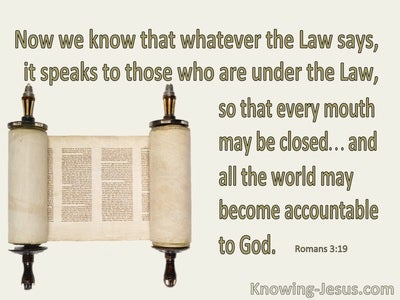 Romans 3:19 The Law Speaks To Those Under The Law (beige)