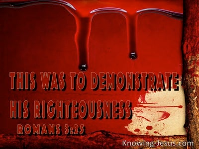 Romans 3:25:Propitiation For Our Sins To Demonstrate His Righteousness (red)