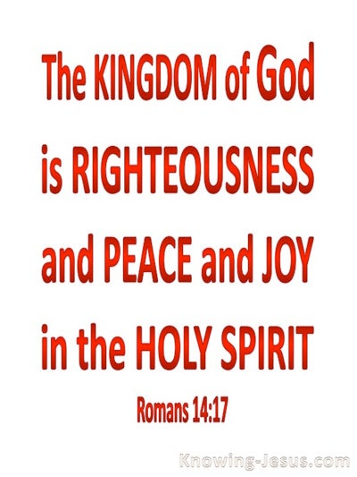 Romans 4:17 Kingdom Of God (red)