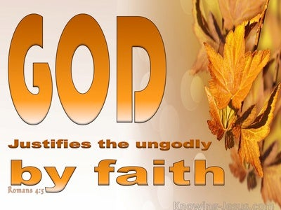 Romans 4:5 Faith Is Credited As Righteousness (orange)