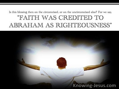 Romans 4:5 Faith Is Credited As Righteousness (white)