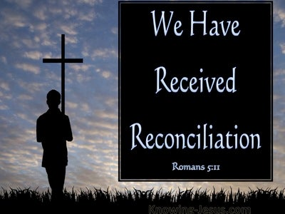 Romans 5:11 We Exalt In God Through Our Lord Jesus Christ (blue)