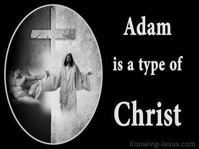 Romans 5:14 Adam Is A Type Of Christ (black)