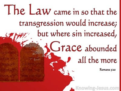 Romans 5:20 Grace Abounded (white)