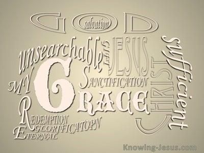 Romans 5:20 Much More Grace (beige)
