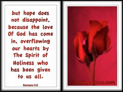 Romans 5:5 The Lord Of God Overflows Our Heart (white)