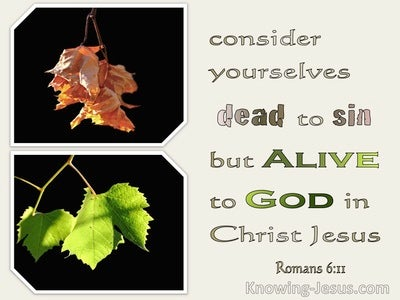 Romans 6:11 Dead To Self And Alive To God (beige)
