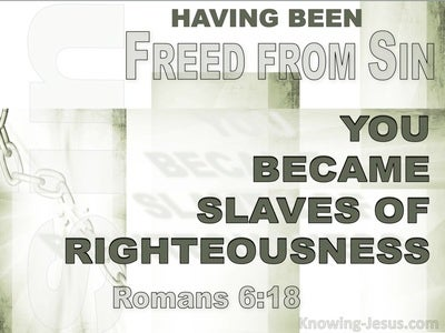 Romans 6:18 Freed From Sin Slaves Of Righteousness (white)