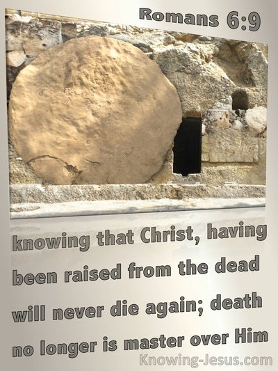 Romans 6:9 Christ Raised From The Dead (brown)
