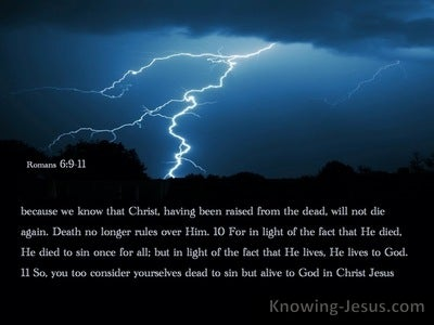 Romans 6:9:11 Death Hath No More Dominion Over Him (black) (utmost)04:12