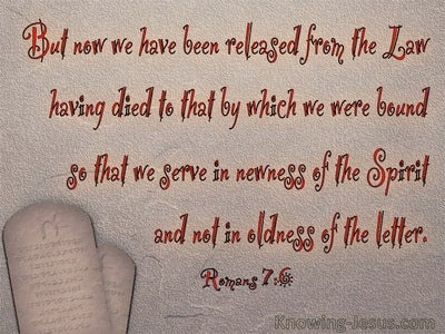 Romans 7:6 We Serve In Newness Of The Spirit (red)