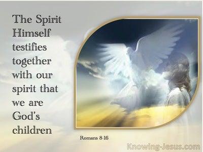 Romans 8:16 The Spirit Himself Beareth Witness With Our Spirit (cream)