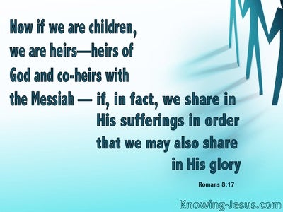 Romans 8:17 Heirs Of God And Joint Heirs With Christ (blue)