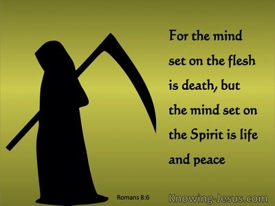 Romans 8:6 The Mind Set On The Flesh Is Death (sage)