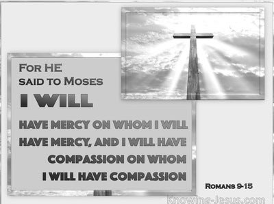 Romans 9:15 God Will Have Mercy And Compassion (silver)