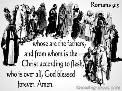 Romans 9:5 Christ, According To The Flesh (white)